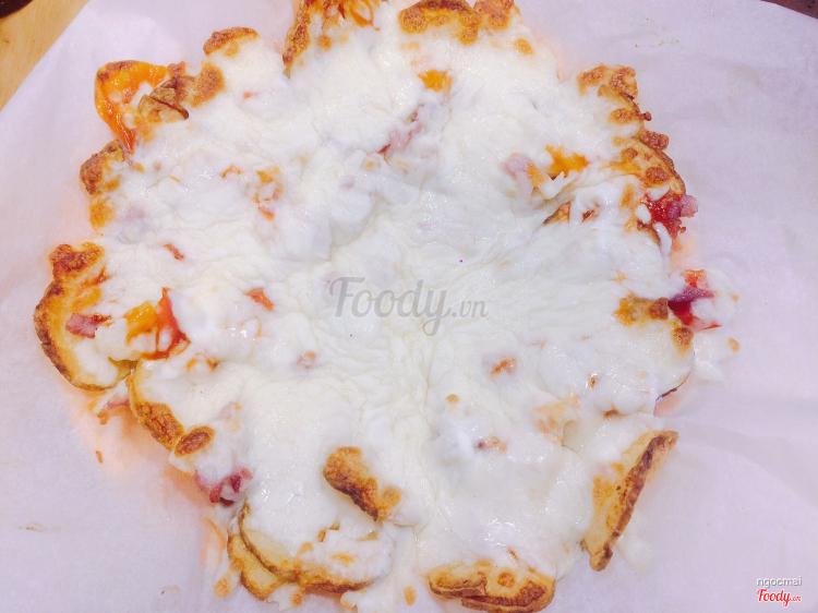pizza khoai tây thịt xông khói