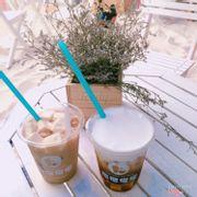 Trà sữa đào và machiato fit phô mai tươi :))))