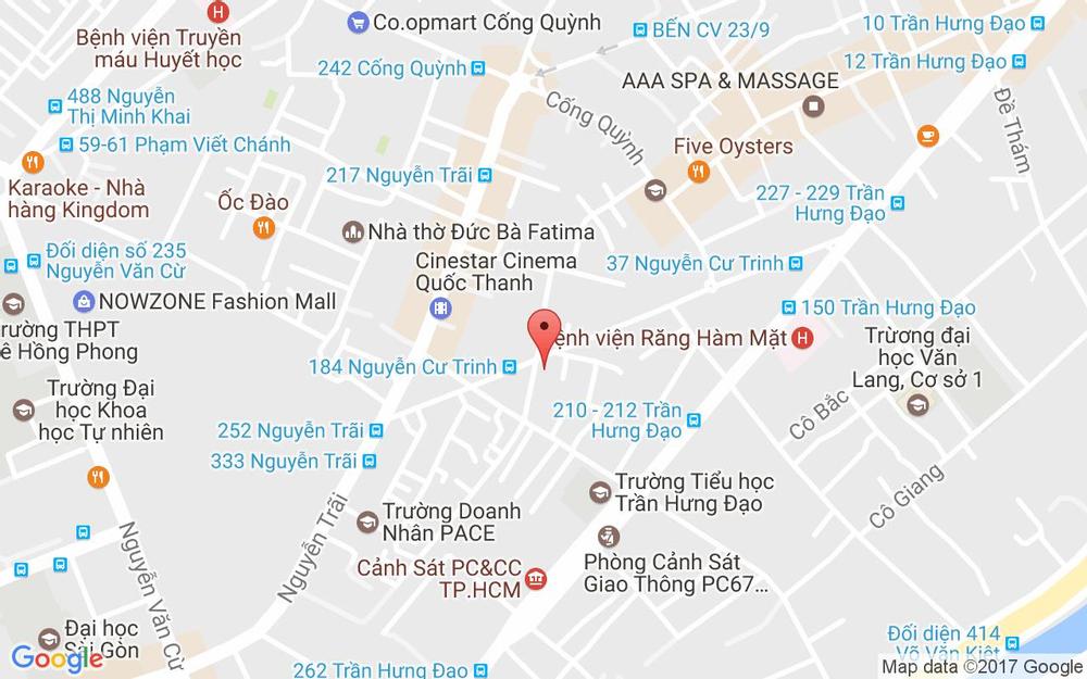 Vị trí bản đồ 153 Nguyễn Cư Trinh Quận 1 TP. HCM