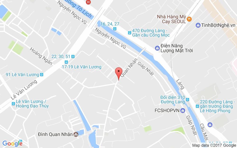 Vị trí bản đồ 45 Quan Nhân Quận Thanh Xuân Hà Nội