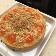 Bông lan trứng muối chà bông gà tự làm.2 lớp sốt 1 sốt nướng 1 sốt cremecheese thơm dịu