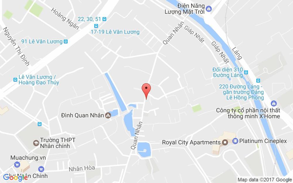 Vị trí bản đồ 121 Quan Nhân, P. Nhân Chính Quận Thanh Xuân Hà Nội