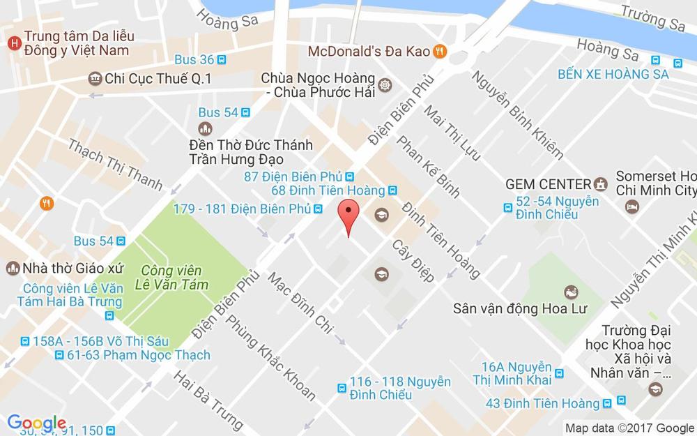Vị trí bản đồ 15 Trần Doãn Khanh, P. Đakao Quận 1 TP. HCM