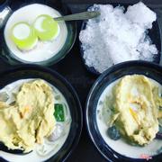 Chè thái sầu & flan cốt dừa
