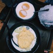 Chè sầu + Flan cốt dừa