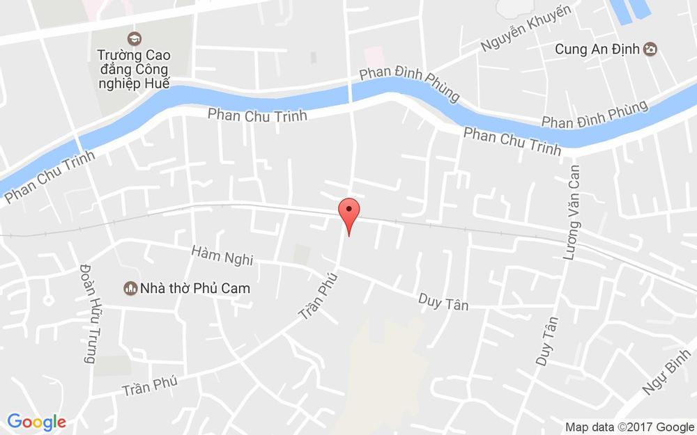 Vị trí bản đồ 61 Trần Phú Tp. Huế Huế