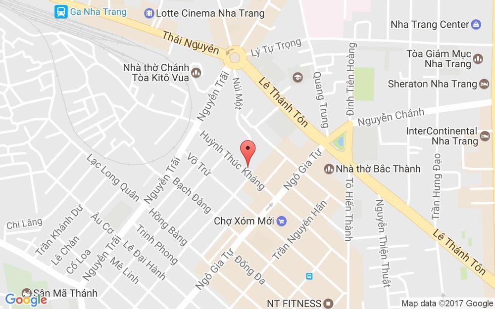 Vị trí bản đồ Núi Một Tp. Nha Trang Khánh Hoà