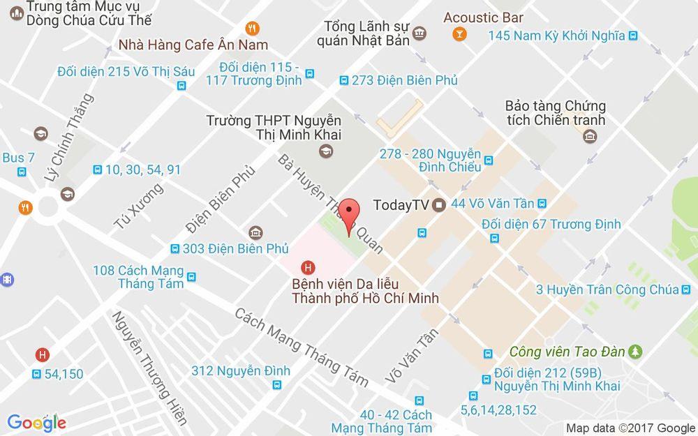 Vị trí bản đồ 2 Hồ Xuân Hương, P. 6 Quận 3 TP. HCM
