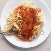 Mỳ Ý cá hồi