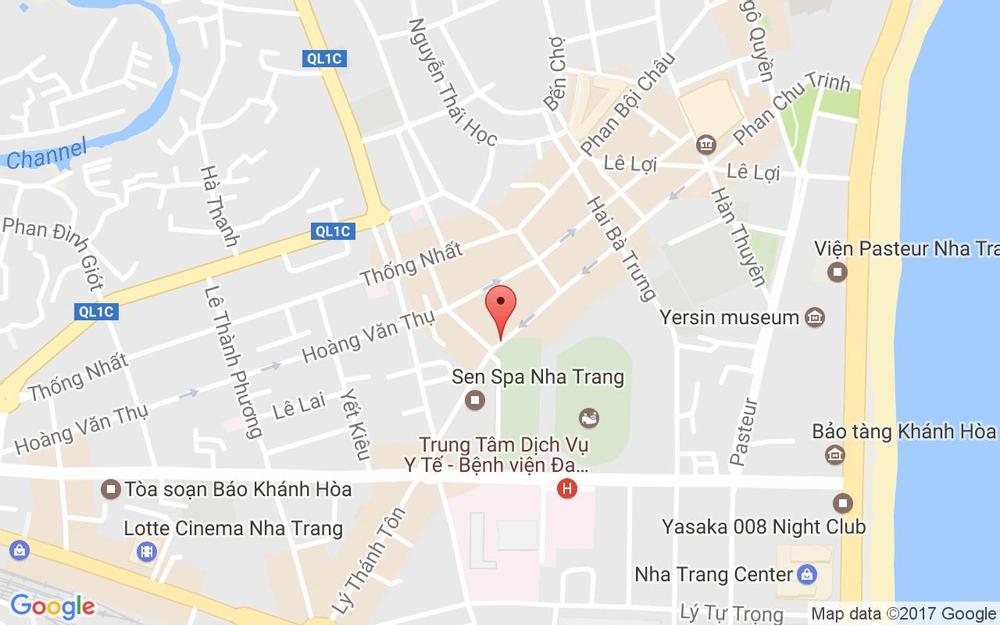 Vị trí bản đồ 19 Phan Chu Trinh Tp. Nha Trang Khánh Hoà