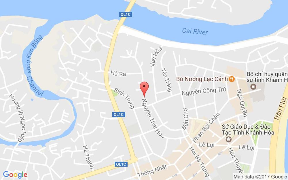 Vị trí bản đồ 42 Nguyễn Thái Học Tp. Nha Trang Khánh Hoà