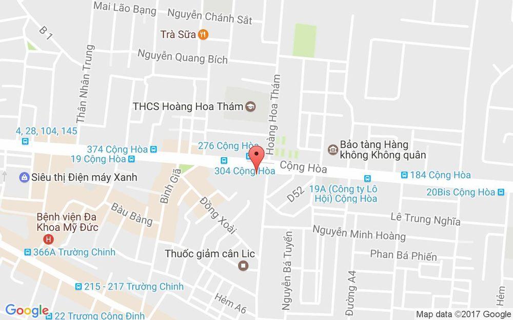 Vị trí bản đồ 179 Cộng Hòa, P. 13 Quận Tân Bình TP. HCM