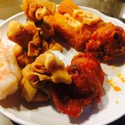 đồ ăn trên line buffet