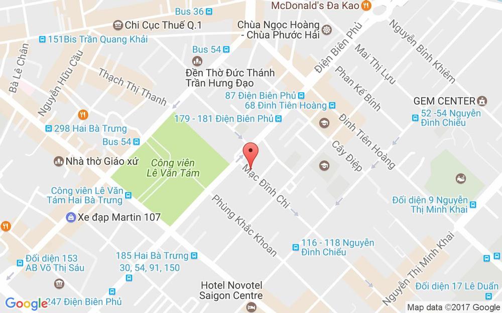 Vị trí bản đồ 90A Mạc Đĩnh Chi, P. Đa Kao Quận 1 TP. HCM
