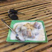 Món chuối nướng với nước dừa ngon