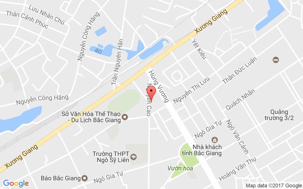 Vị trí bản đồ 160 Nguyễn Cao, P. Ngô Quyền Tp. Bắc Giang Bắc Giang
