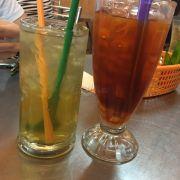 Bông cúc + trà chanh Thái