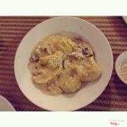 Ravioli sốt kem nấm