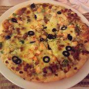 Pizza bò băm tôm