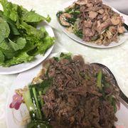 Thịt bò xào thơm, đĩa đầy ú ụ, giá cả hợp lý, tuy thêm rau sẽ đỡ ngấy