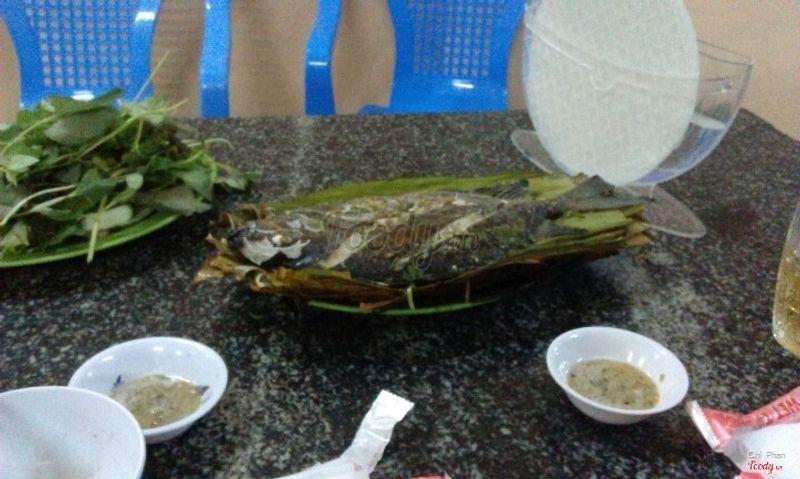 Cá dìa nướng lá chuối