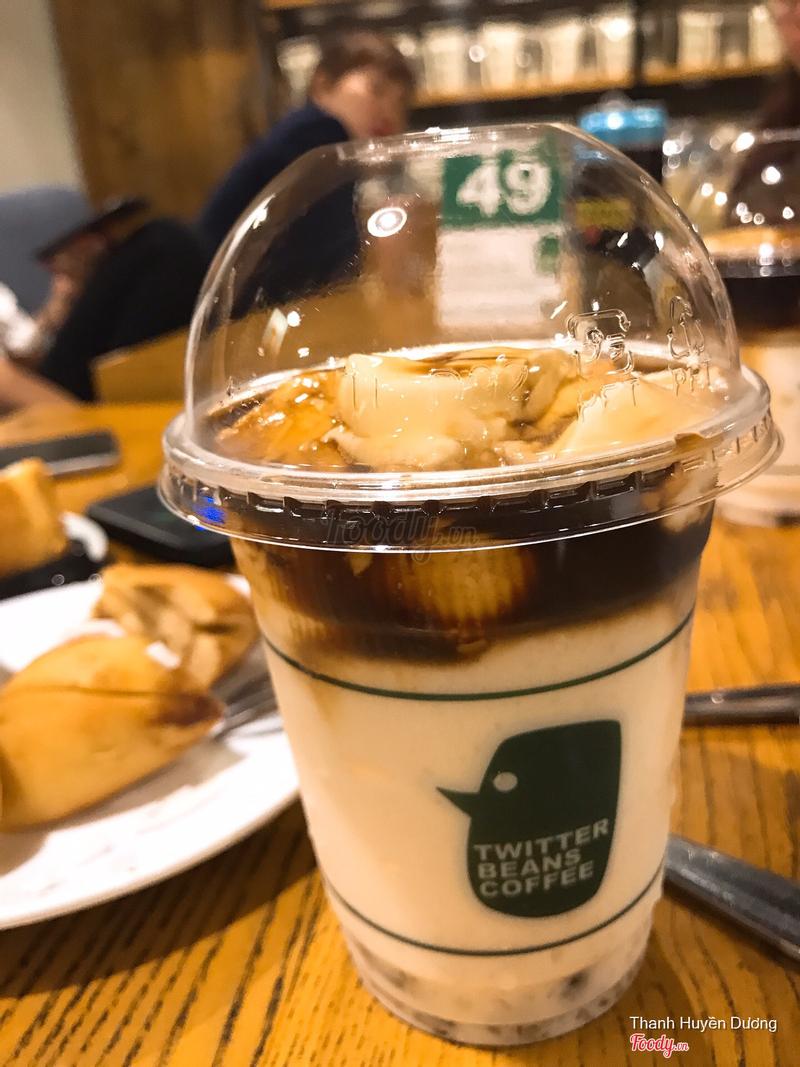 Sữa chua trân châu đường nâu cafe - cực ngon