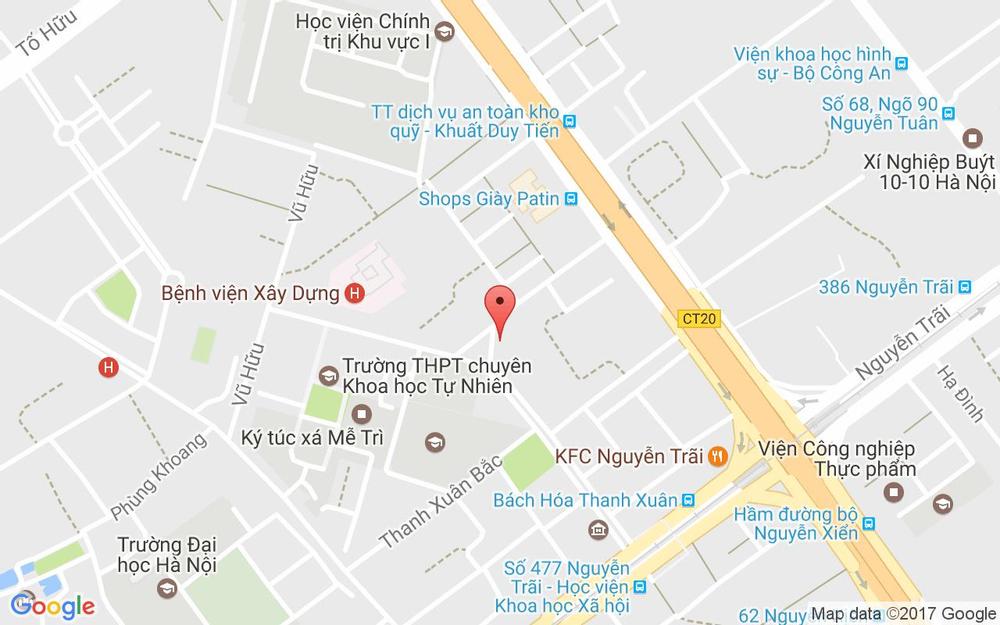 Vị trí bản đồ B6 TT Thanh Xuân Bắc, Nguyễn Quý Đức Quận Thanh Xuân Hà Nội