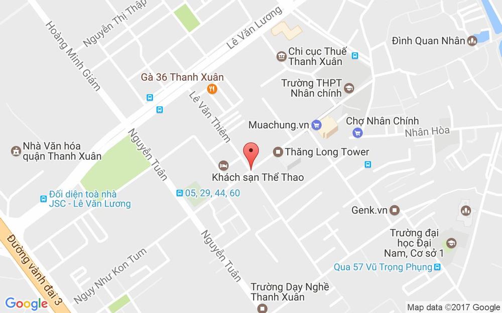 Vị trí bản đồ T4 Lê Văn Thiêm Quận Thanh Xuân Hà Nội