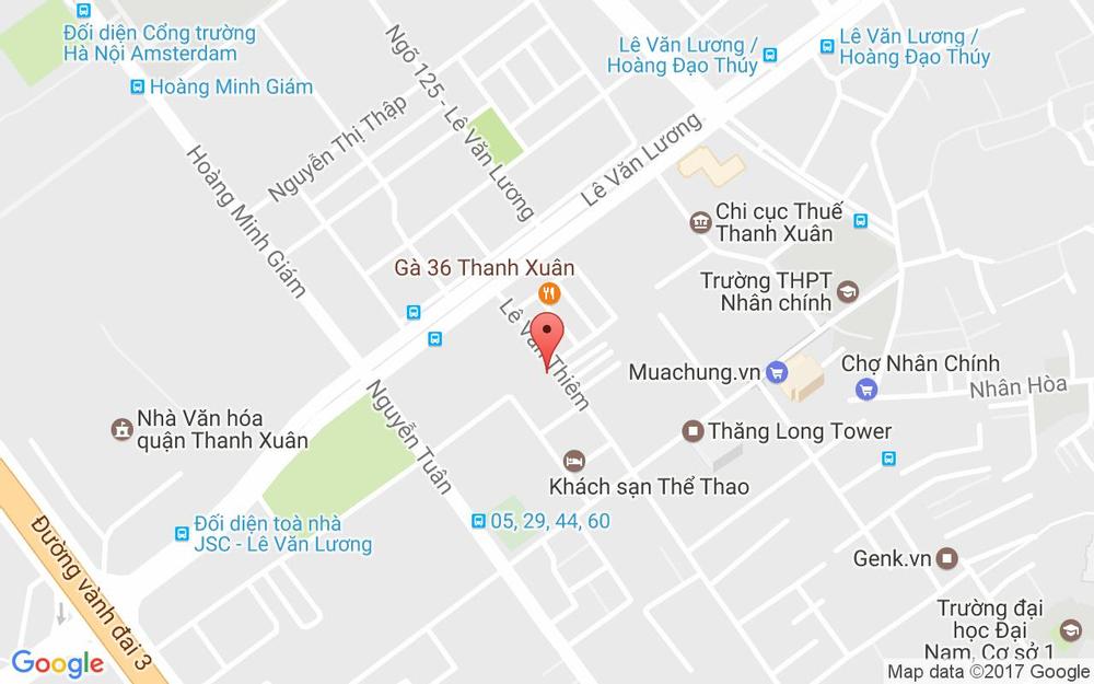 Vị trí bản đồ 60 Lê Văn Thiêm Quận Thanh Xuân Hà Nội