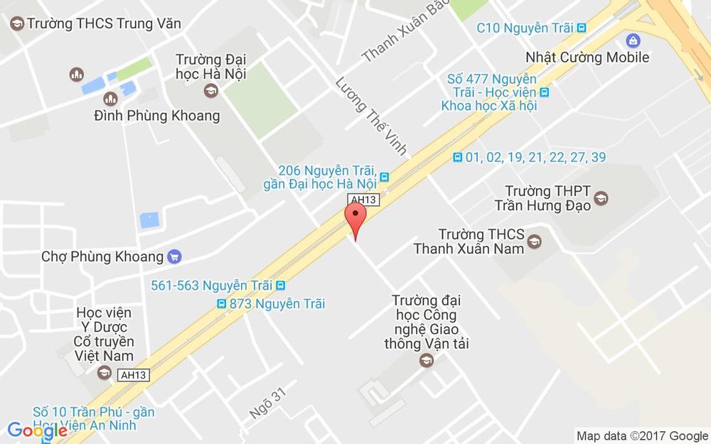 Vị trí bản đồ 6 Triều Khúc Quận Thanh Xuân Hà Nội