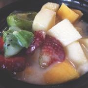 sữa chua trộn trái cây