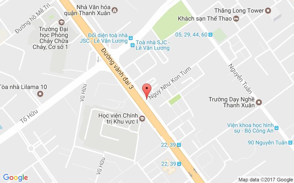 Vị trí bản đồ 12 Ngụy Như Kon Tum Quận Thanh Xuân Hà Nội