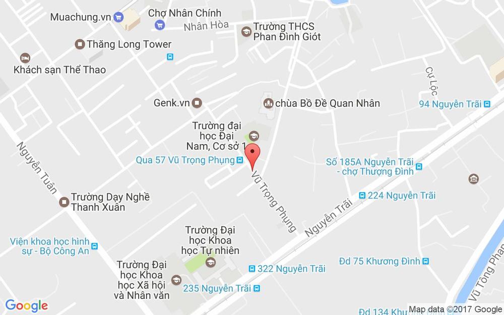 Vị trí bản đồ 54A Vũ Trọng Phụng Quận Thanh Xuân Hà Nội