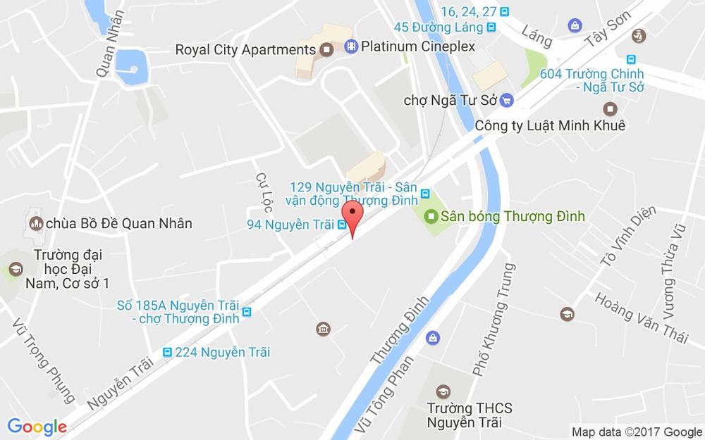 Vị trí bản đồ 129L Nguyễn Trãi Quận Thanh Xuân Hà Nội
