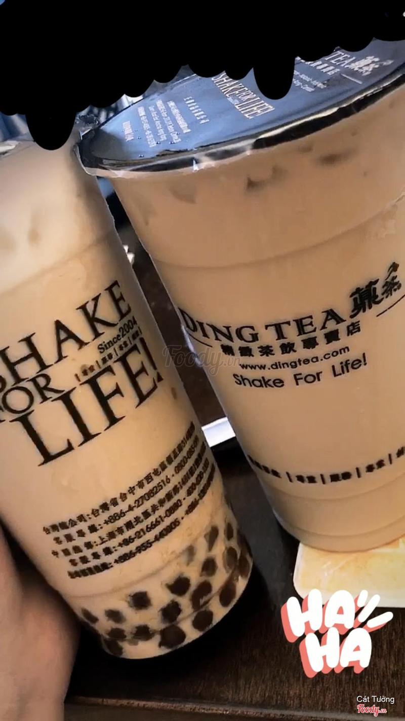 Trà Sữa Đường Đen + Kem Sữa + Trân Châu