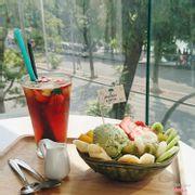 Anmitsu + trà hoa quả