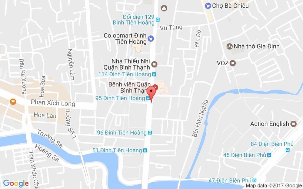 Vị trí bản đồ 144 Đinh Tiên Hoàng, P. 1 Quận Bình Thạnh TP. HCM