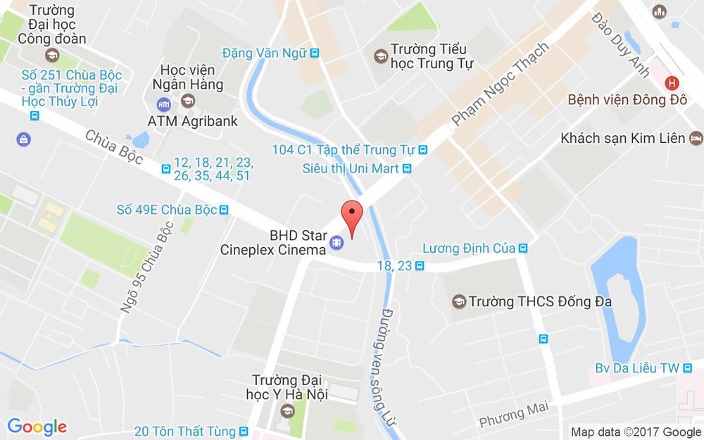 Vị trí bản đồ BHD Star Cineplex - Vincom Center Phạm Ngọc Thạch ở Hà Nội