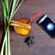 Ly trà đào với sả cực ngon và ngọt