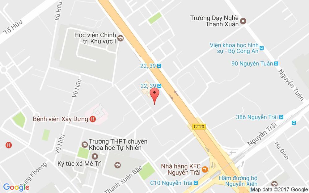 Vị trí bản đồ 112D1 Thanh Xuân Bắc Quận Thanh Xuân Hà Nội