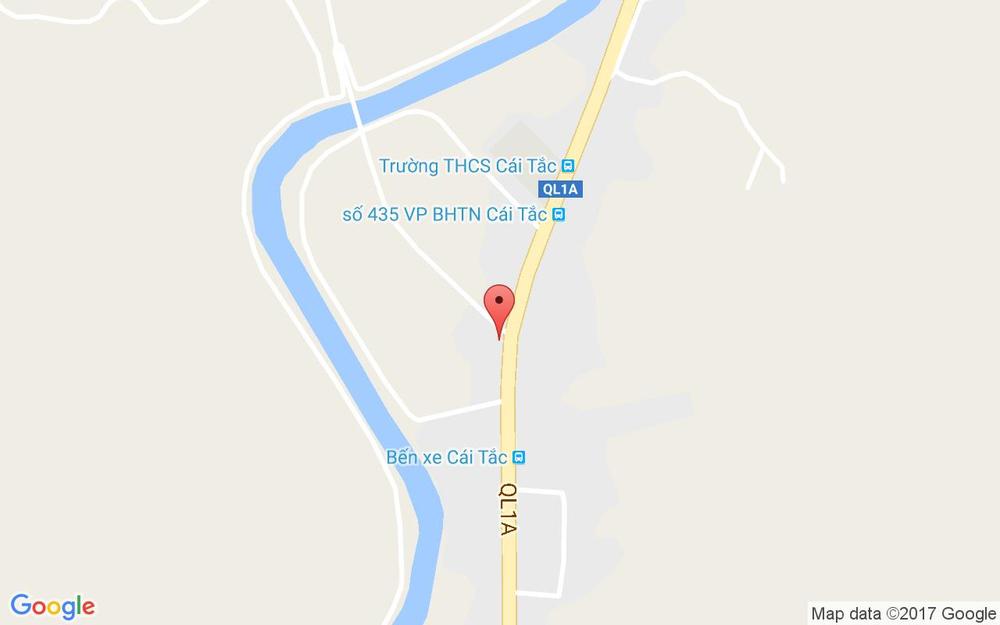Vị trí bản đồ Quốc lộ 1A, Thị Trấn Cái Tắc Châu Thành A Hậu Giang