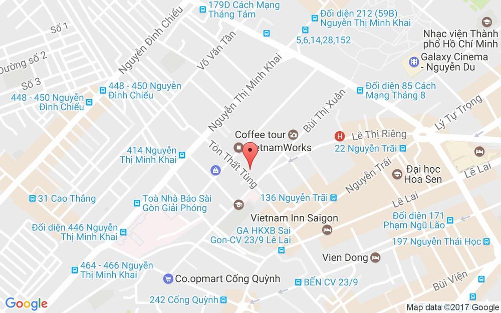 Vị trí bản đồ 82 Tôn Thất Tùng Quận 1 TP. HCM