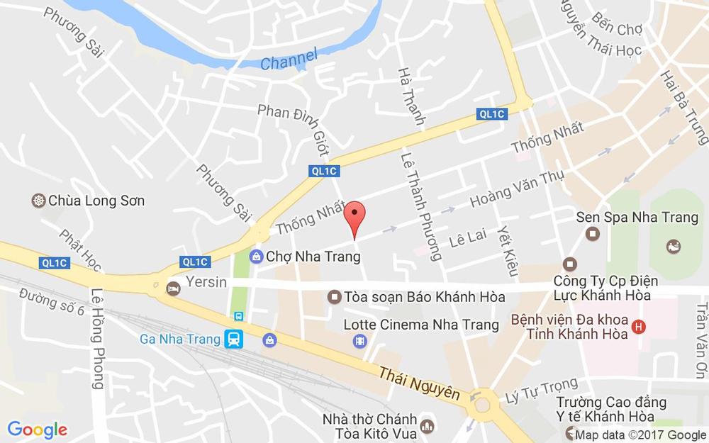 Vị trí bản đồ 30 Tô Vĩnh Diện, P. Phương Sài Tp. Nha Trang Khánh Hoà
