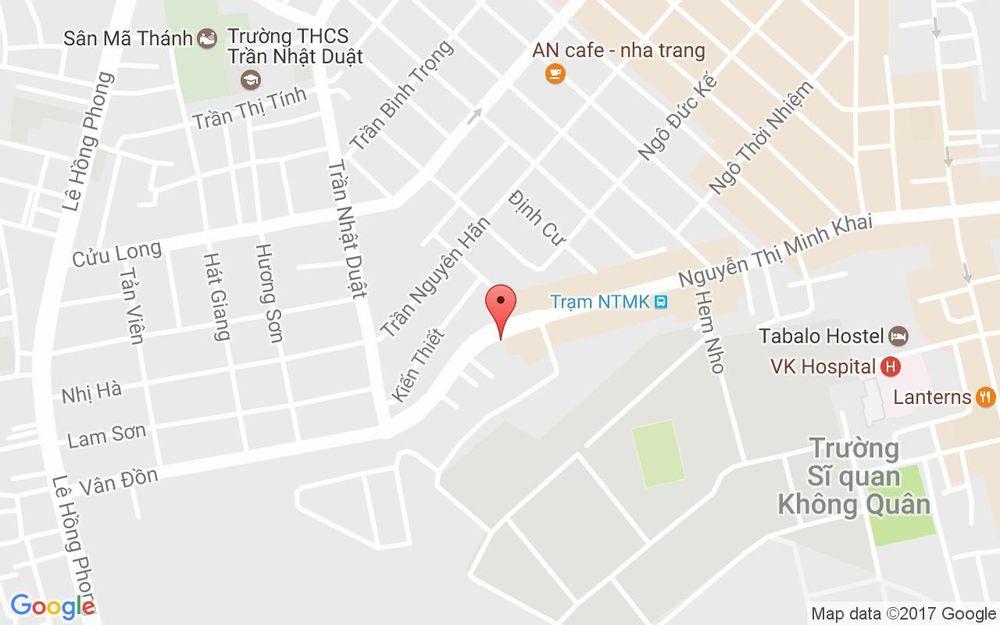 Vị trí bản đồ 121 Nguyễn Thị Minh Khai Tp. Nha Trang Khánh Hoà
