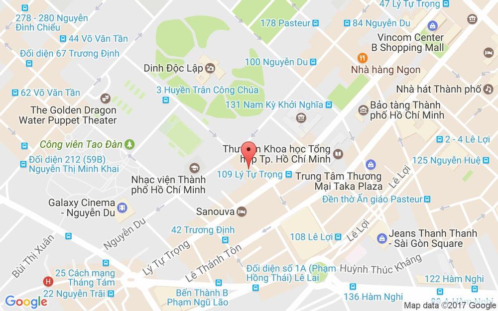 Vị trí bản đồ 55 Thủ Khoa Huân, P. Bến Thành Quận 1 TP. HCM