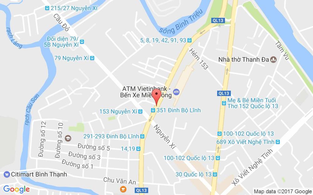 Vị trí bản đồ 292 Đinh Bộ Lĩnh, P. 26 Quận Bình Thạnh TP. HCM