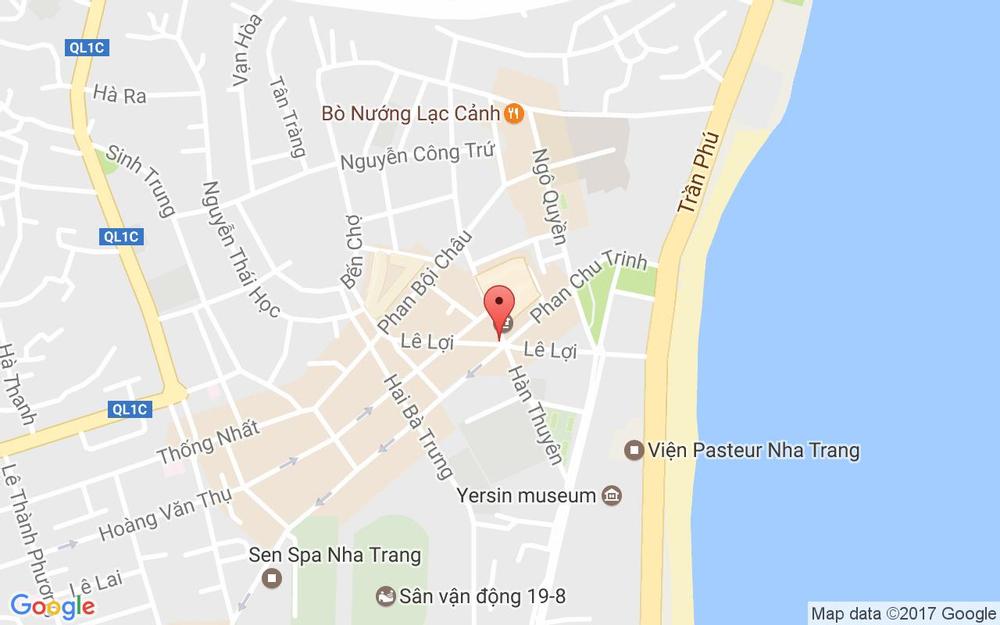 Vị trí bản đồ Lê Lợi Tp. Nha Trang Khánh Hoà