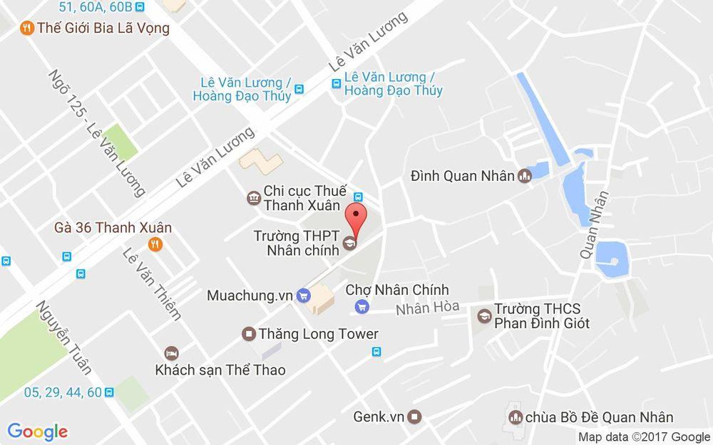 Vị trí bản đồ 58/116 Nhân Hòa Quận Thanh Xuân Hà Nội