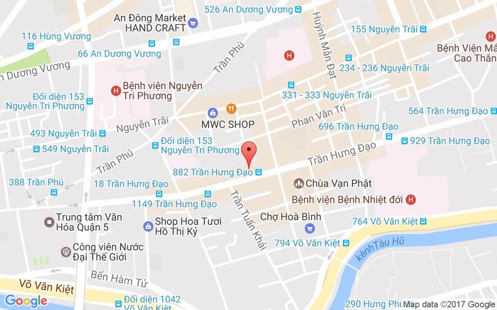 Vị trí bản đồ 890 Trần Hưng Đạo A, P. 7 Quận 5 TP. HCM