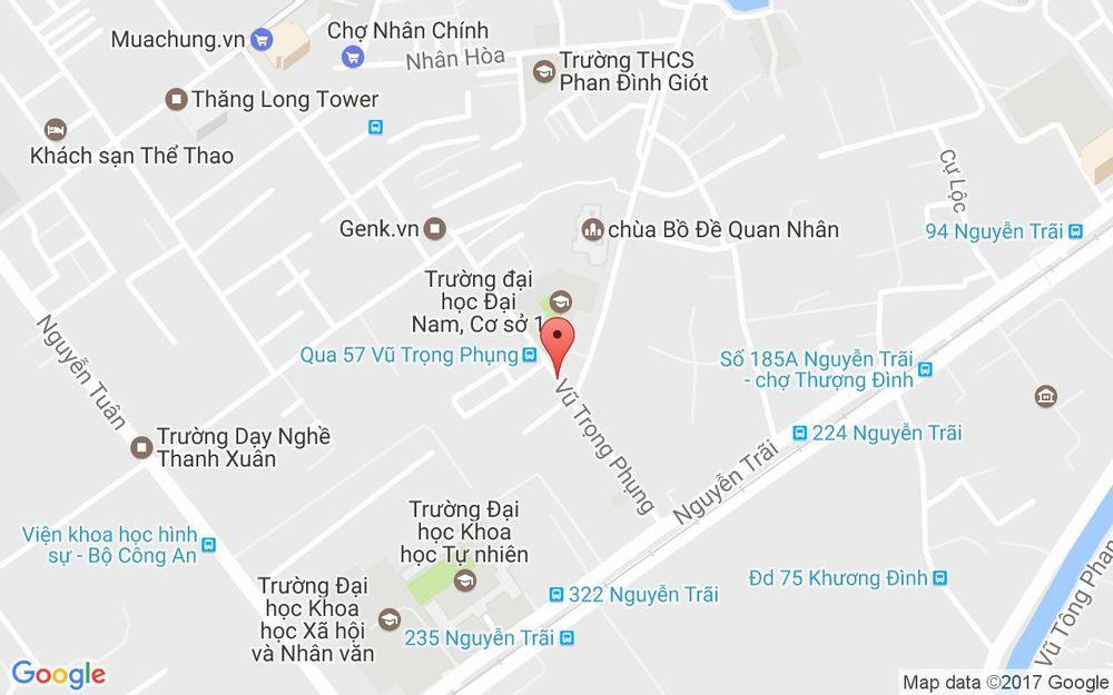 Vị trí bản đồ 54 Vũ Trọng Phụng Quận Thanh Xuân Hà Nội